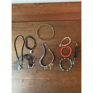 Lot of 9 Youth Girl Teen Jewelry Choker Necklaces